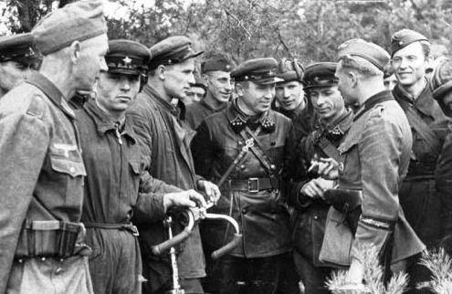Setkání německých a sovětských jednotek