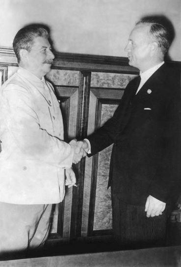 Stalin a Ribbentrop v Kremlu