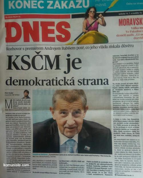 KSČM je prý demokratická strana